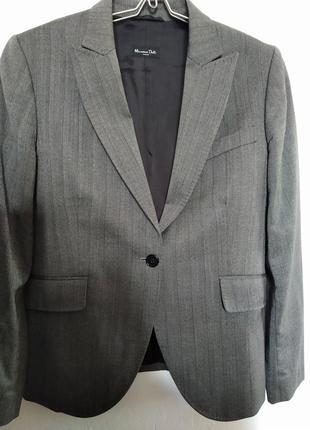 Весенняя распродажа -50%до 10.03.пиджак massimo dutti 100%шерсть