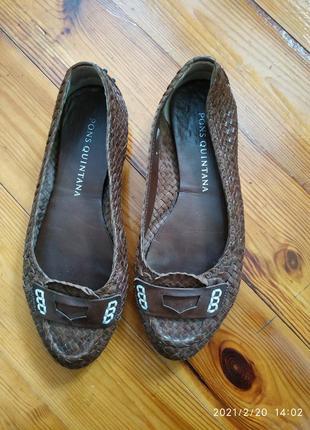 Брендовые плетеные мокасины туфли pons quintana