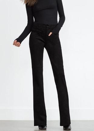 Стильные брюки из премиальной коллекции zara premium denim collection