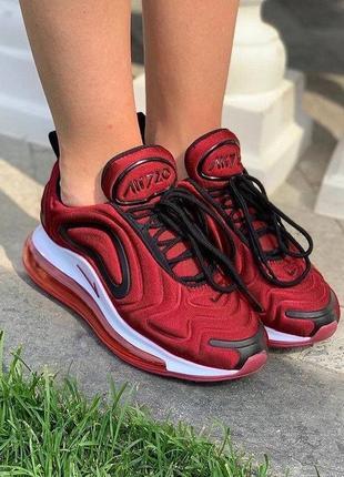 Шикарные женские кроссовки nike air max 720 бордовые