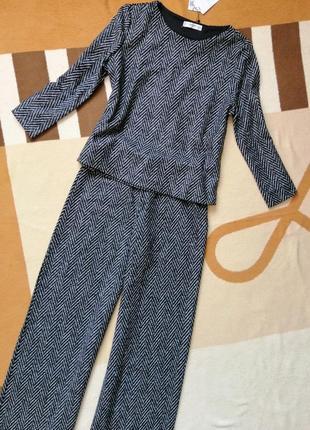 Шерстяной костюм премиум качества mango новая коллекция