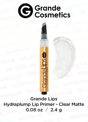 Матовый плампер для губ grande cosmetics hydraplump lip primer clear