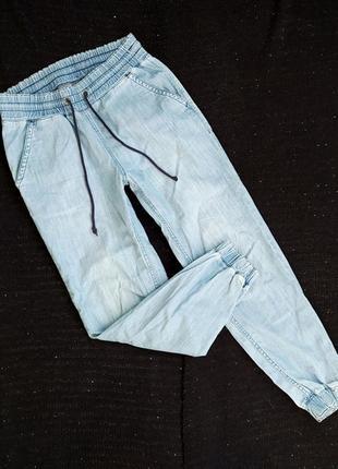 Джинсы на резинке, р-р m-l, джегинсы, джинсовые брюки h&m