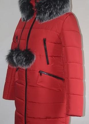 Пуховик зимний,стилтный,отличное качество, размер 48.