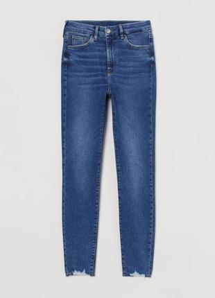 Джинсы skinny стрейчевые женские h&m англия. размер 28