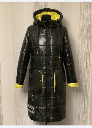 Стильное пальто,дэми,монклер, размер 52.
