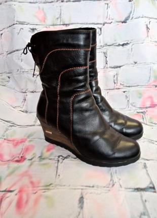 Зимние кожаные ботинки, полусапожки, 25,5 см