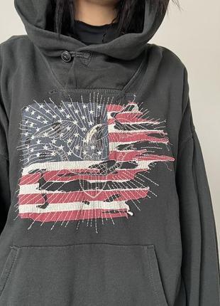 Мягенькое худи 100% хлопок флаг америки