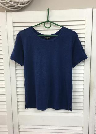 Льняная футболка massimo dutti
