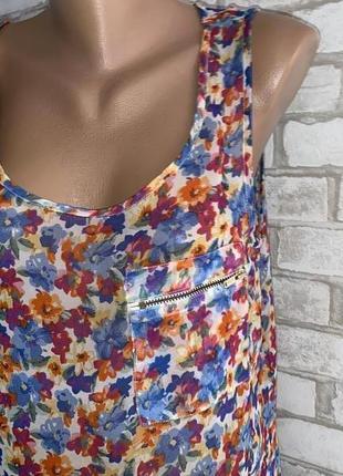 Шикарная яркая летняя майка/блуза new look размеры 12 made in india 🇮🇳
