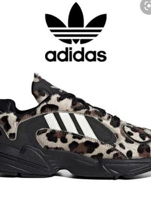 Новые! кроссовки adidas yung-1 'leopard'! оригинал! унисекс, р.40/25,5см