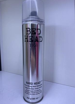 Лак для волосся сильної фіксації tigi bed head, 385ml