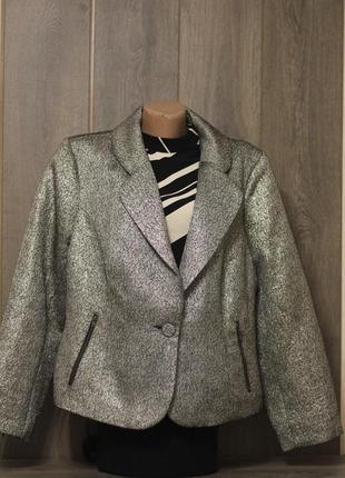 Нарядный пиджак, блейзер, жакет металлик от asos curve 52-54