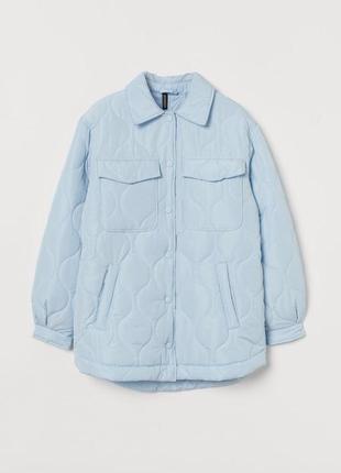 Трендовая демисезонная стёганная куртка рубашка новая коллекция h&m 😍