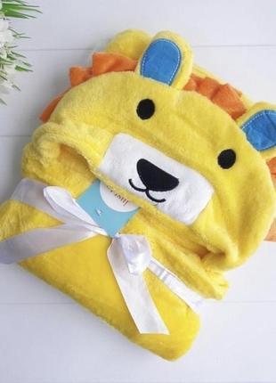 Детское полотенце плед с капюшоном