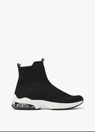 Хайтопы zara зара кроссовки чулки носки чёрные новые 35 размер