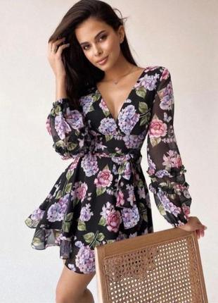 🌹идеальное воздушное платье с поясом