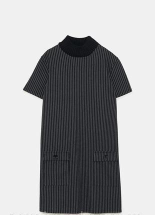 Платье в полоску zara с карманами