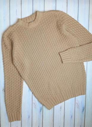 💥1+1=3 шикарный мужской плотный свитер с шерстью bellfield, размер 48 - 50