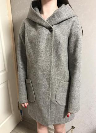Пальто серое2 фото
