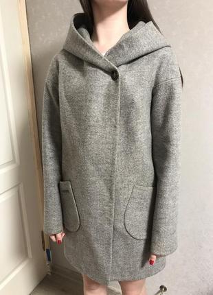 Пальто серое4 фото
