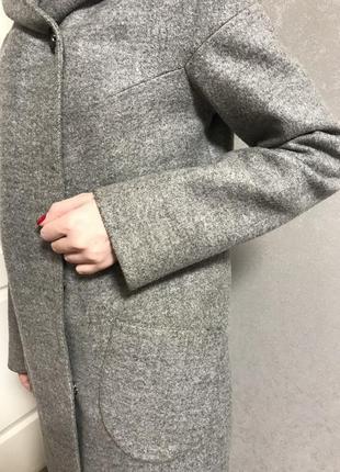 Пальто серое7 фото