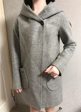 Пальто серое5 фото