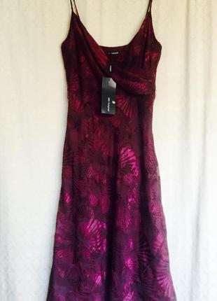 Новый сарафан,платье цвета марсала,размер-s/8