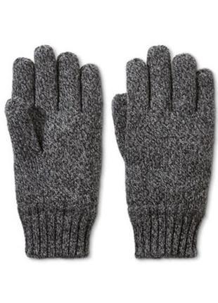 Качественные мужские вязанные перчатки от тсм tchibo (чибо), германия, размер 10