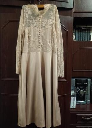Роскошное фирменное платье нюдового цвета y.a.s на любое торжество!