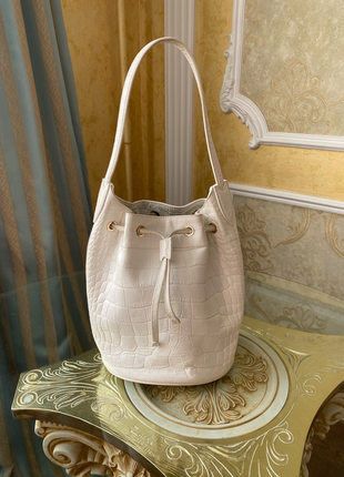 Кожаная сумка-ведро max mara