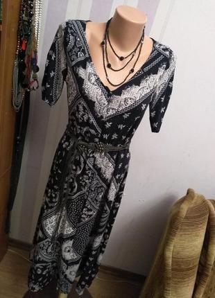 Натуральное платье миди, длинное платье на пуговицах, этно стиль