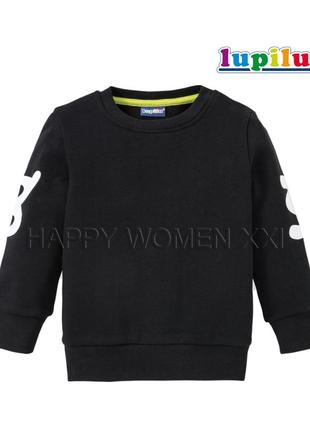 Свитшот на флисе для мальчик 2-4 года lupilu джемпер реглан кофта свитер детский теплый