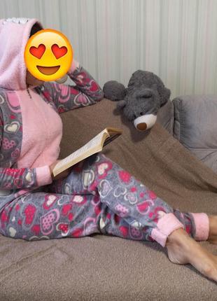 Комбинезон, кигуруми, пижама, костюм плюшевый, спальный костюм