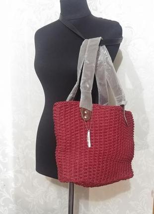 Натуральная плетеная сумка соломка nina ricci.