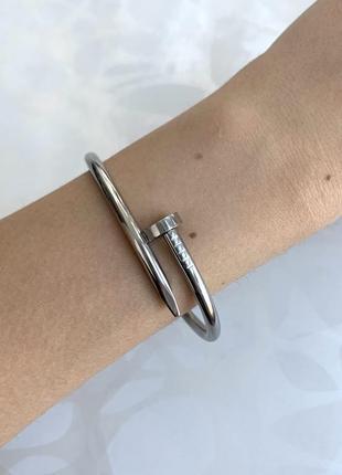 Модный серебристый браслет металлический гвоздь цвета серебро серый шуруп
