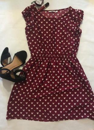 Романтичное платье в сердечки