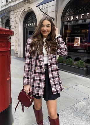 Твидовый удлинённый пиджак zara можно как платье