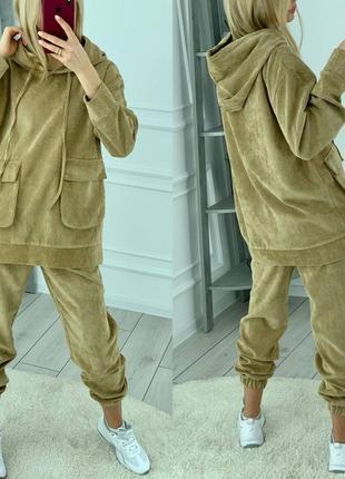 Крутой вельветовый костюм8 фото