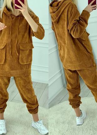 Крутой вельветовый костюм3 фото