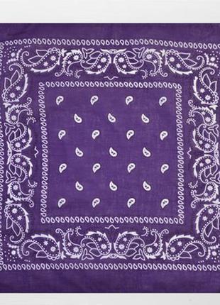 Бандана классическая фиолет