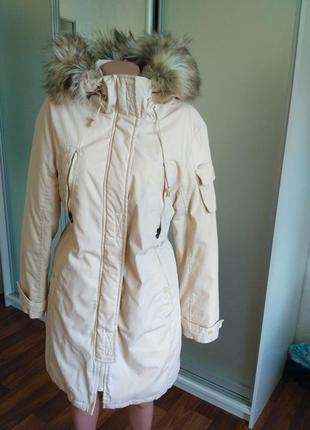 Продам пальто пуховик парка с капюшоном