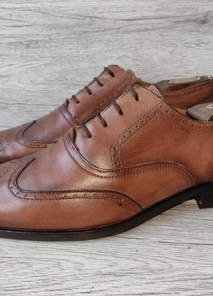 Tommy hilfiger 43р туфли мужские броги кожа италия