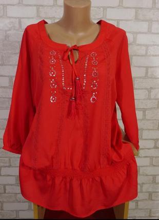 Шикарная, яркая блуза в идеале 50-52