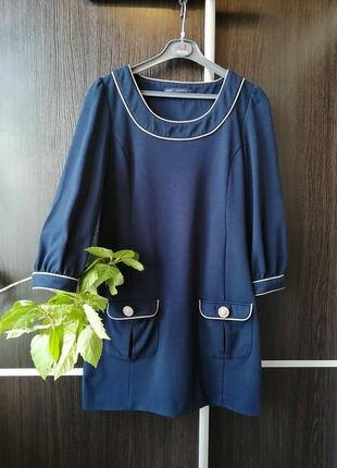 Красивое, оригинальное платье сукня туника с карманами. вискоза. next.