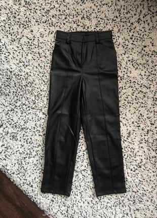 Hm брюки кожаные