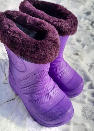 Детские сапоги из эва с съемным утеплителем, резиновые сапожки пенка, кроксы.