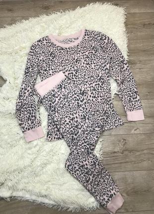 Тёплый домашний костюм love to lounge леопардовый принт
