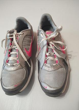 Женские стильные кроссовки nike air max серебристого цвета, 37 размер
