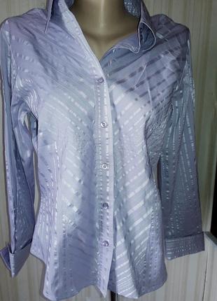 Новая рубашечка светло сиреневого цвета 49%коттон  от marks&spencer